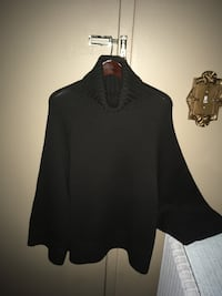 Ladies 100% wool brown sweater by Theory size L 522 km