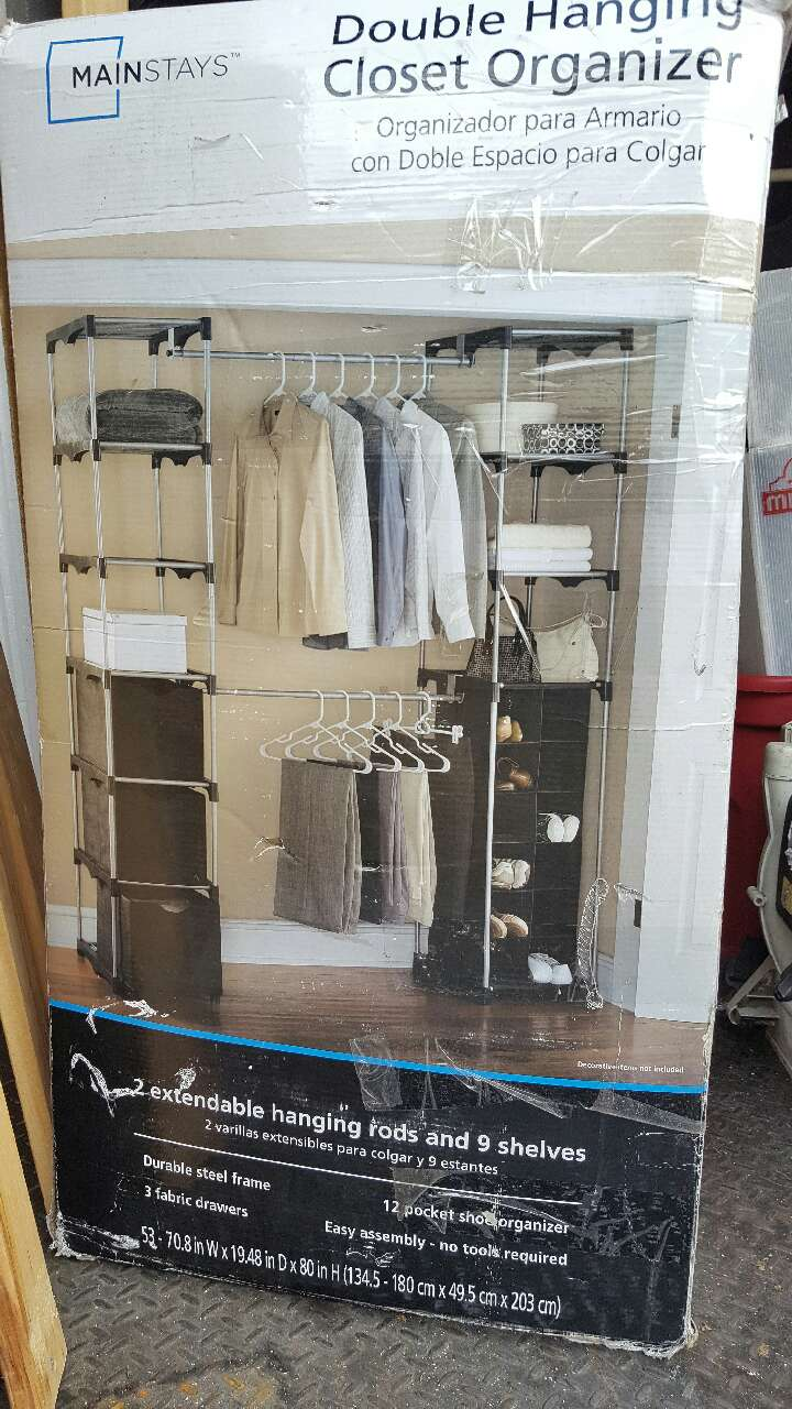 Mainstays Double Hanging Closet Organizer Box In Covina   Letgo