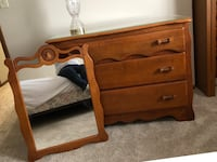 Solid maple dresser and mirror Arlington Heights