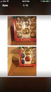 Two box christmas ornaments never used