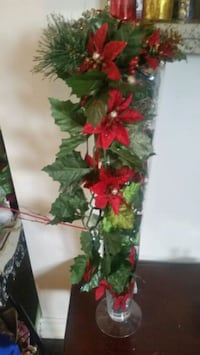 red and green artificial flower decor Hamilton
