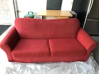 Red fabric sofa Markham, L6E 2E3
