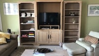 brown wooden TV hutch with side bookcases Fernandina Beach, 32034