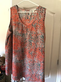 red and black floral sleeveless top Lachine, H8S 1Z3