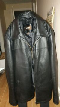 black leather zip-up jacket Toronto, M9B 4M7
