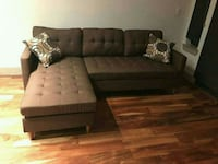 brown and black sectional couch Austin