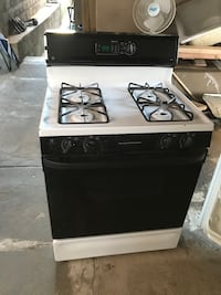 Refrigerator and stove each