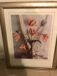 White-and-red tulips in vase painting Clifton, 07013