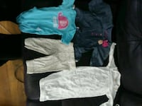 New clothes for a baby girl sizes newborn an 0-3