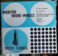 Webster word wheels in box from 1962 for teaching  Woodstock, 22664