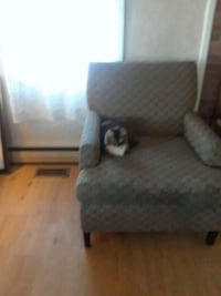 Grey side chair( kitty not included) 64 km