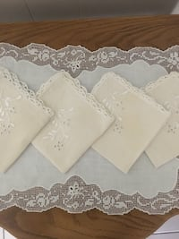 Tea Napkins embroidered by hand 4.00 Tustin, 92780