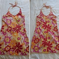 Floral halter dress size small