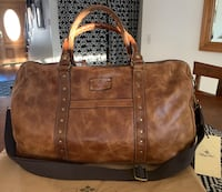 NEW Patricia Nash-Distressed leather MILANO travel bag. Fillmore, 93015