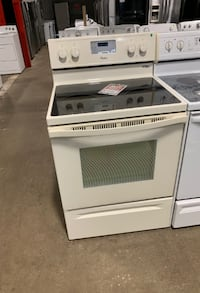 ✌Used bisque color glass top stove whirlpool electric - Farmingdale