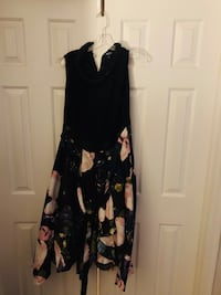 Black and white floral spaghetti strap dress Manassas, 20110