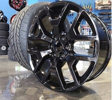 """24"""" inch gmc or Chevy wheels and tires package deal"""