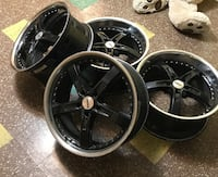 black 5-spoke car wheel set Glen Cove, 11542