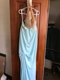 Teal prom dress, size 2 or 4. never worn Baltimore, 21216