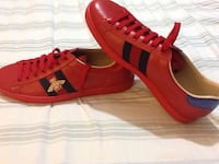 Gucci Red Ace Bee Sneakers (Size 10.5-11) Richmond Hill, L4C 6Y8