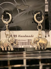 Elephant Local handmade new with tag earrings handcrafted art craft.  Lutherville Timonium, 21093