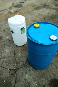 One 45 Gal Drum, Three 15 gallon drums (Food Grade)