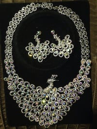 Iridescent Austrian crystal necklace  and earrings  Mississauga, L4W