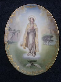 Virgin Mary collectors plate
