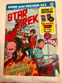 Star Trek book & record set The Crier In Emptiness 1975 Weehawken, 07086