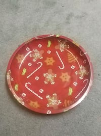 Gingerbreadman & Candy cane serving tray Barrie
