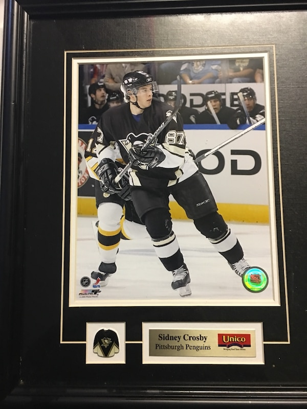 3b571e8ce Sidney Crosby 8x10 professionally framed with pins and description plate