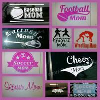 Sports mom decal stickers