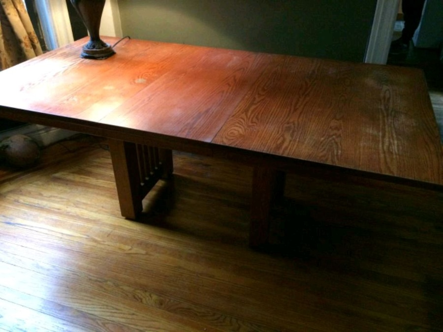 used mission dining table solid red oak for sale in bronx letgo rh us letgo com