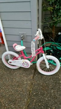 toddler's pink and white step-through bicycles Portland, 97204