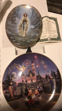 Collector plates. Disney and lady of Lourdes  Niagara Falls, L2H 2A7
