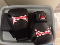 black and red Throwdown boxing gloves Red Deer, T4P