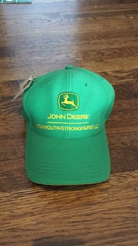 John Deere hats- assorted green and black with logo- New!