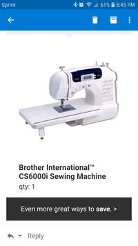 white and black Brother electric sewing machine Chesapeake, 23320