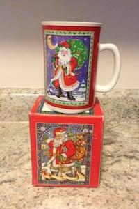 Santa Claus ceramic mug with box