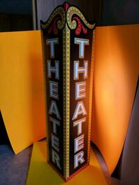 Large Movie Room THEATER Sign  24x6 Stow, 44224