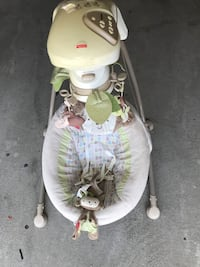 white and green Fisher-Price cradle n swing Vaughan, L4H 0N6