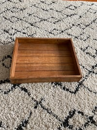 Wooden coffee table decor!