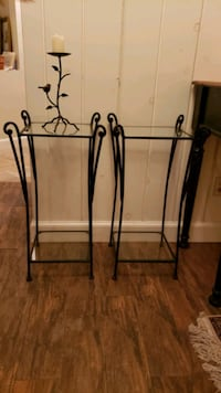 Pier 1 Rot Iron Glass Tables