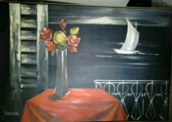 Panchini oil painting. New
