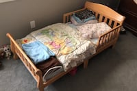 Toddler bed with mattress -like new!