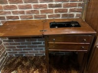 Old school sewing table machine Kitchener, N2E 4E2