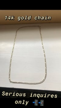 Gold 14k chain 925 silver plated