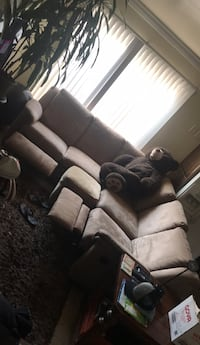 Beige sectional couch with two recliners, the giant bear comes with LoL  Chula Vista, 91911