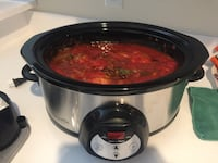 Black and gray slow cooker OBO 270 mi