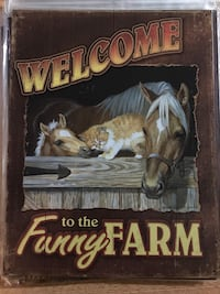 Welcome to the funny farm tin sign null, K0A 3H0